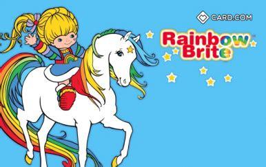 rainbow brite design cardcom prepaid visa card cardcom