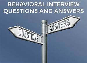 Nurse Manager Job Interview Questions Answers To Behavioral Interview Questions For 9 Common Job