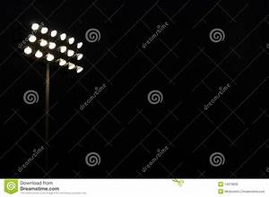 Sports stadium flood lights stock photo image
