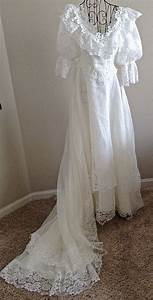 vintage jc penney wedding bridal gown dress beaded organza With penneys dresses for weddings