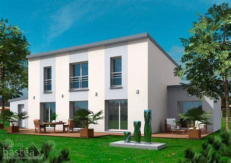 celeste maison contemporaine toit 1 pente avec garage arriere bastea