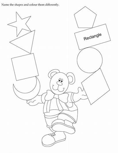 Shapes Colour Coloring English Worksheet Activity Activities