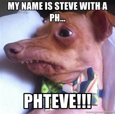 Ph Memes - my name is steve with a ph phteve tuna the quot phteven quot dog meme generator
