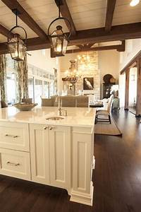 Exposed Wood Beams - Cottage - kitchen - Southern Living