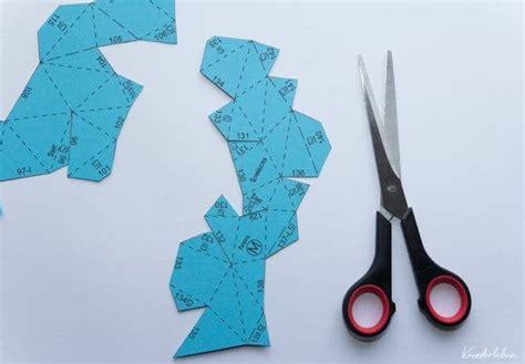 polygon osterhase aus papier handmade kultur