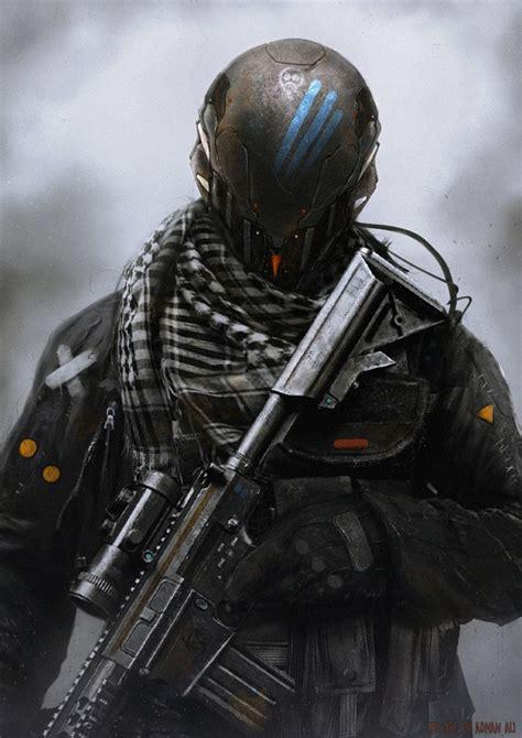 Military Sci-Fi Soldier Concept Art