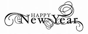 Happy new year clipart black and white - Cliparting.com