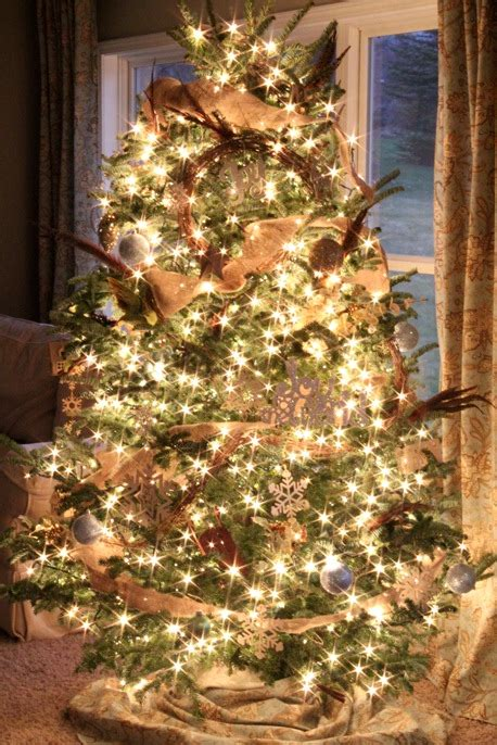 neutral christmas tree   girl blog