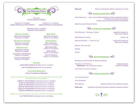 free wedding ceremony program template krista graphic