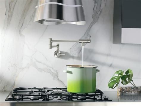 Danze Parma Kitchen Faucet by Moen Classic Stainless Two Handle Pot Filler Pot Fillers