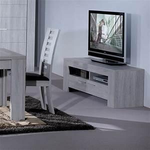 meuble tv gris clair tahiti univers du salon With deco cuisine pour meuble tv contemporain