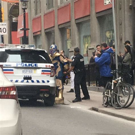 """Toronto Police Arrested Thanos From """"infinity War,""""twitter"""
