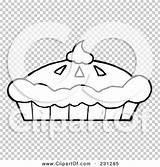 Pie Cream Whipped Outline Pumpkin Coloring Clipart Fresh Illustration Rf Royalty Background Clip Toon Hit sketch template