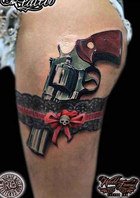 gun tattoo tattoo ideas tattoos revolver tattoo