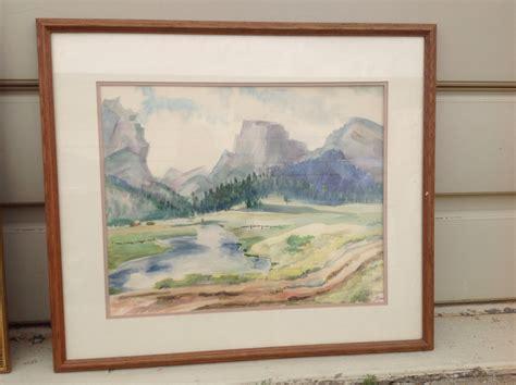 framed canvas sale framed watercolor on canvas in blackjack 39 s yard sale