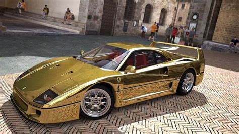 gold ferrari outrageous gold ferrari f40 cool cars pinterest
