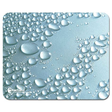 tapis de souris ultra fin design quot perles de pluie