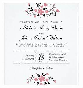 Wedding invitation templates download free premium for Sample wedding invitations pdf
