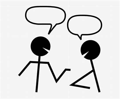 Partner Talk Clipart Stick Figure Transparent Seekpng