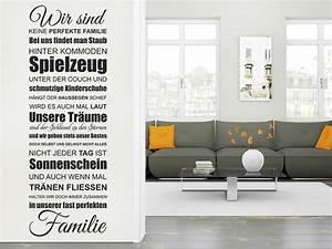 Wandtattoo Sprüche Familie : wandtattoo eine fast perfekte familie spruchband wandtattoo de ~ Frokenaadalensverden.com Haus und Dekorationen