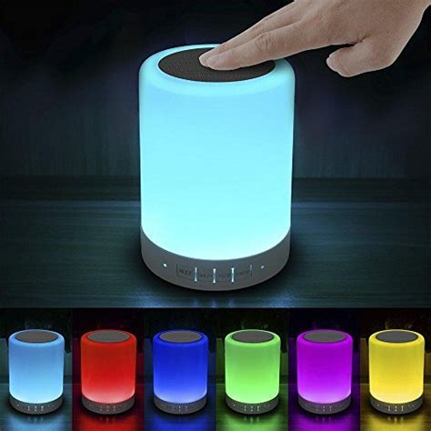 Elecstars Touch Bedside Lamp   with Bluetooth Speaker