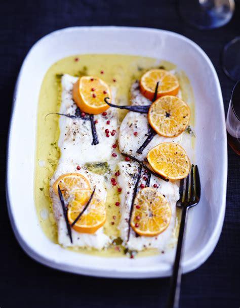 cuisine recette poisson poisson rôti aux agrumes et beurre vanillé pour 6