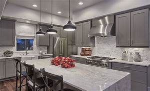 Kitchen Design, Slate Gray Contemporary Kitchen Island