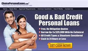 bad credit personal loans unsecured loan