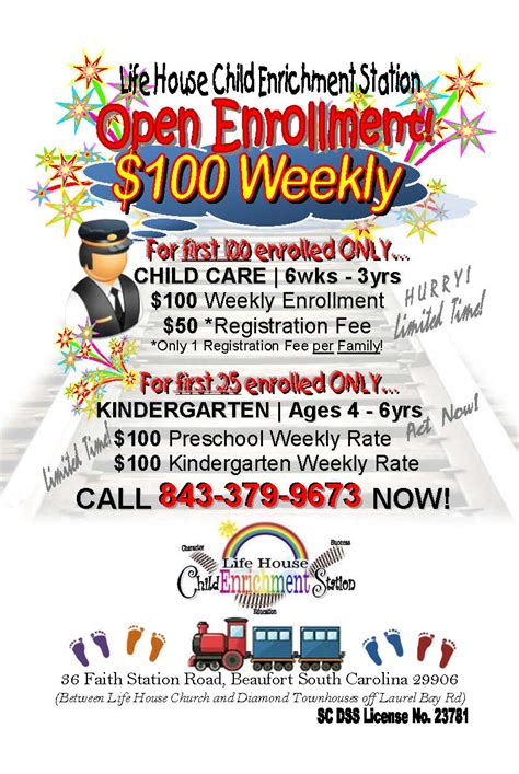 house child enrichment station 542 | FLYER 1st 100 Enrollment Promotion