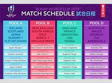 Rugby World Cup 2019 match schedule announced as fans