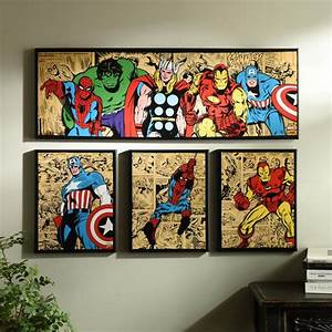 best 25 marvel room ideas on pinterest marvel bedroom With marvel wall art