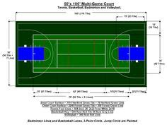 multi game court   basketball court size