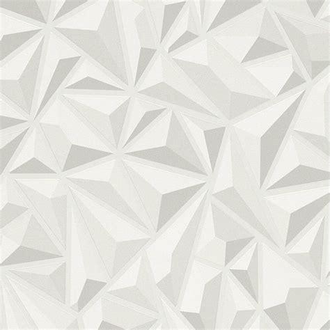 effect white grey geometric wallpaper textured luxury