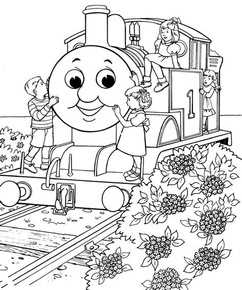 thomas  tank engine coloring pages  coloring kids coloring kids