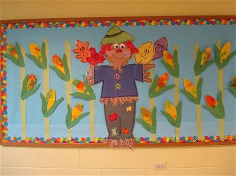 trinity preschool mp fall scarecrow bulletin board oak