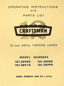 Craftsman 101 28900 101 28910 101 28980 101 28990 12