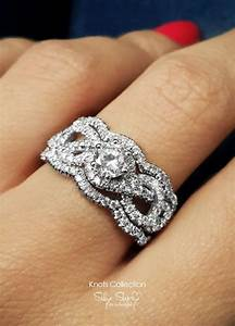 infinity engagement ring with 2 wedding bands semi mount With 2 wedding bands with engagement ring