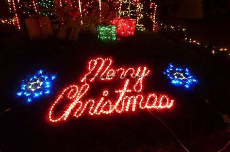 merry christmas display dyker heights lights according 2 g
