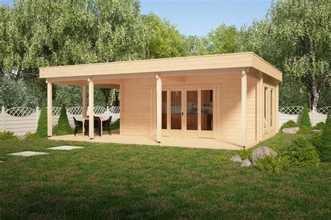 Gartenhaus Mit Terasse by Gartenhaus Mit Gro 223 Er Terrasse Remo 1 22m2 58mm 6 X