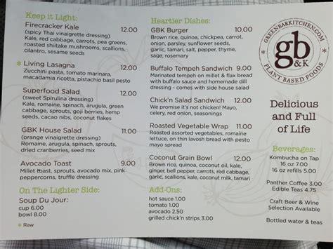 green bar and kitchen menu food menu yelp 6930