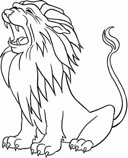 Lion Coloring Pages Cartoon Printable Adult Colouring