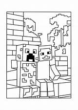 Coloring Minecraft Pages Printable Creeper Popular sketch template