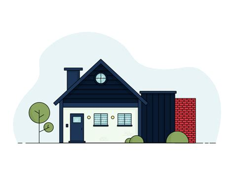house illustration  saroj shahi  dribbble