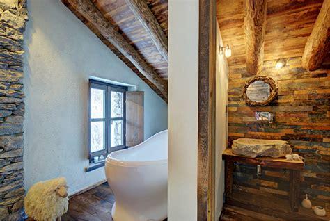 diseno de interiores rustico uso de madera  piedra casas top