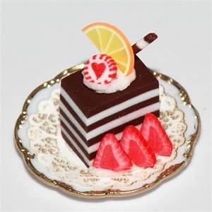 Decadent Chocolate Pastry w/fruit slices Stewart