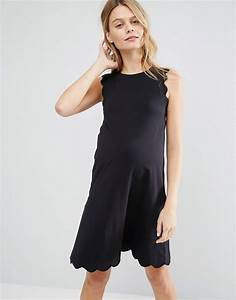 Asos maternity asos maternity shift dress with scallop for Asos us maternity