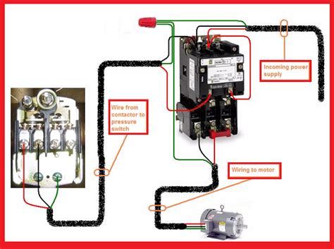 2 Pole Contactor Wiring by Single Phase Motor Contactor Wiring Electrical Mechanics