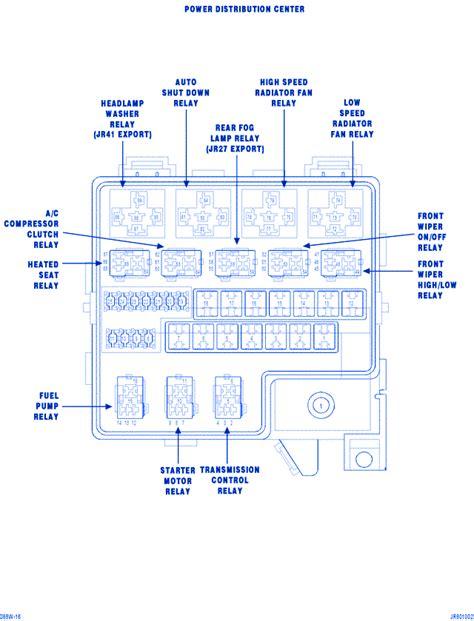 2003 Dodge Stratu 2 7 Fuse Box Diagram by Dodge Stratus 2 7 2002 Mini Fuse Box Block Circuit Breaker