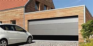 Portes de garage basculantes et sectionnelles en region for Largeur porte garage double