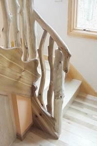 Main Courante En Bois : main courante rampe d 39 escalier ou rambarde en bois flott ~ Nature-et-papiers.com Idées de Décoration